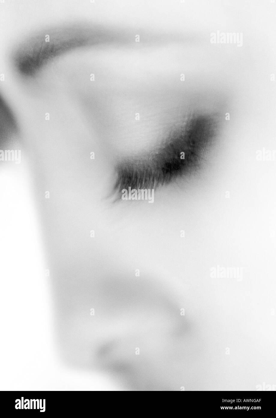 Eye Close Up Black Eyeliner Stock Photos & Eye Close Up Black ...