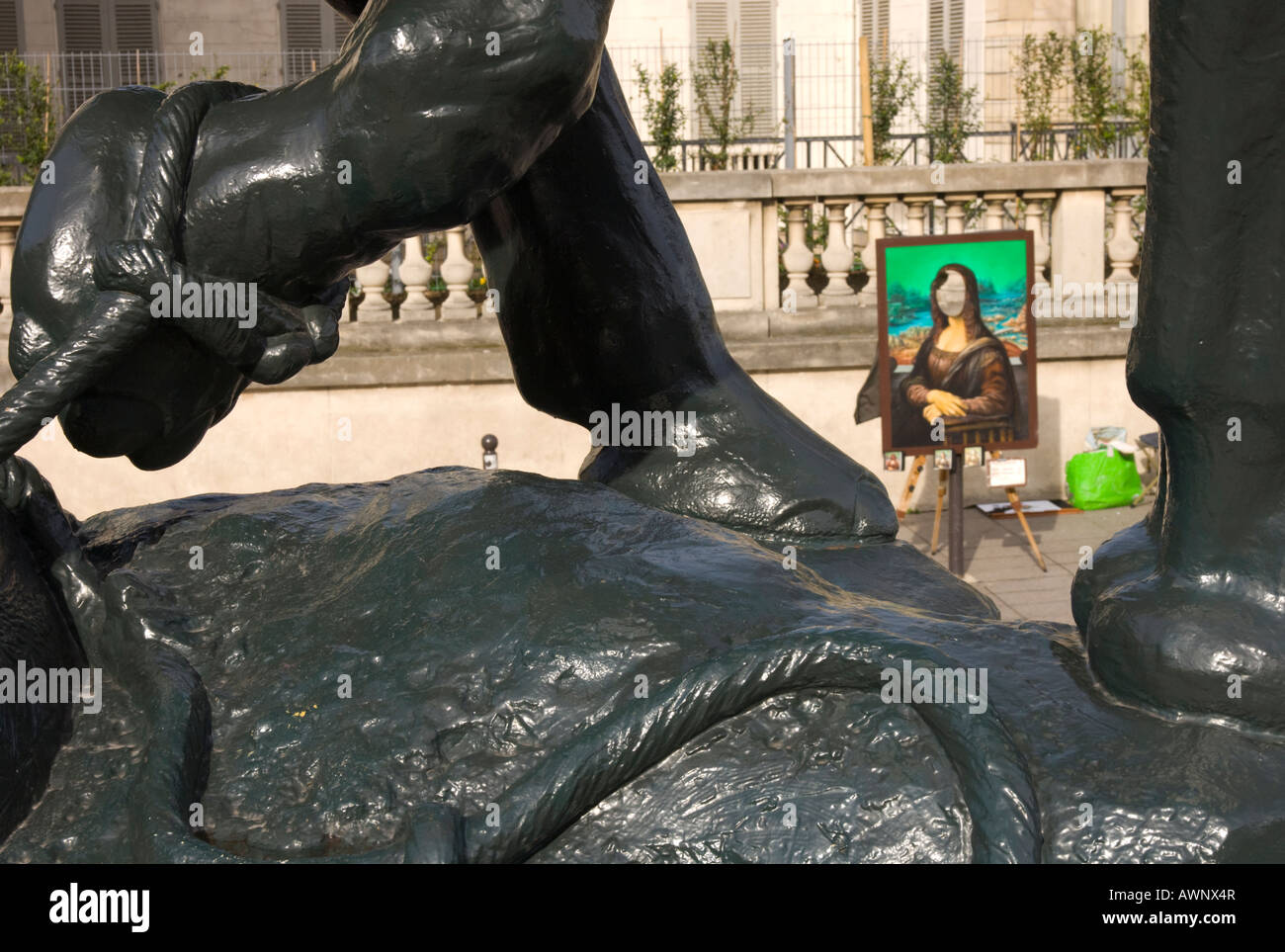 Good France Paris 7 Musee D Orsay Esplanade Outside Entrance Gate Copy Of Mona  Lisa Picture