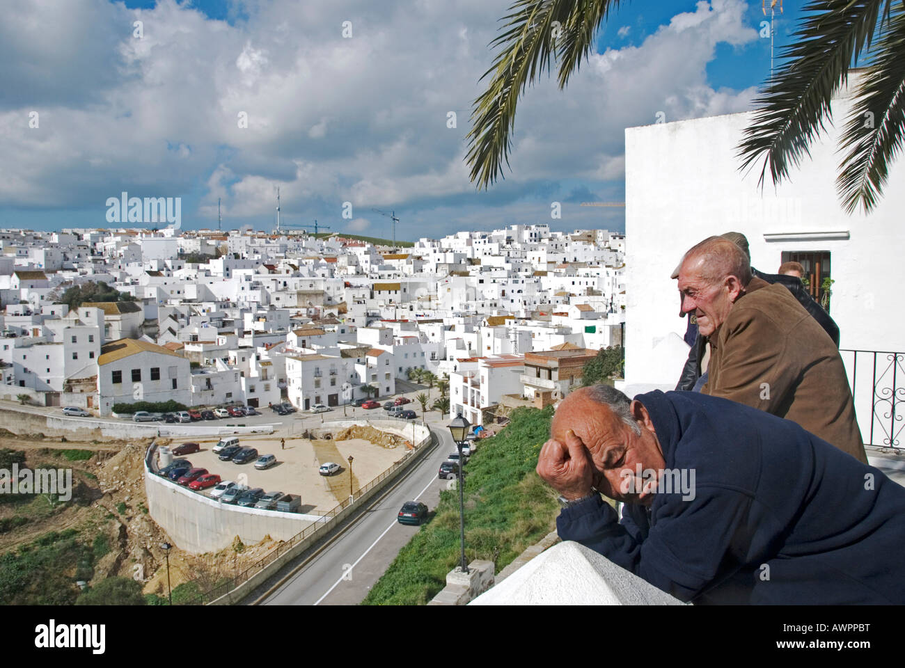 Vejer De La Frontera With Its Whitewashed Houses The Most Beautiful Stock Photo Royalty Free
