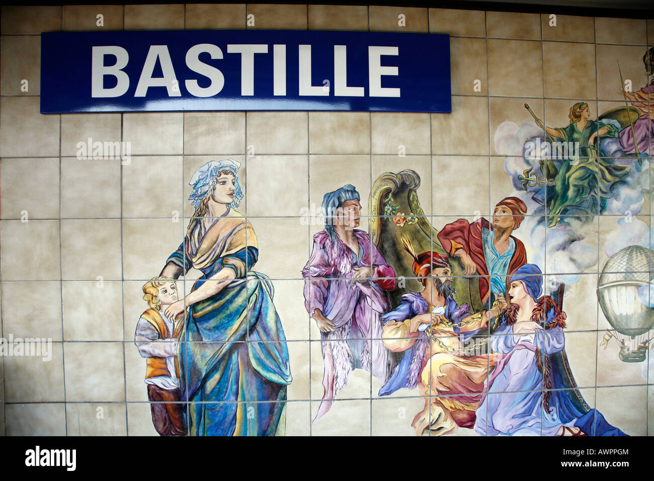 wall mural at bastille station paris metro paris france europe wall mural at bastille station paris metro paris france europe
