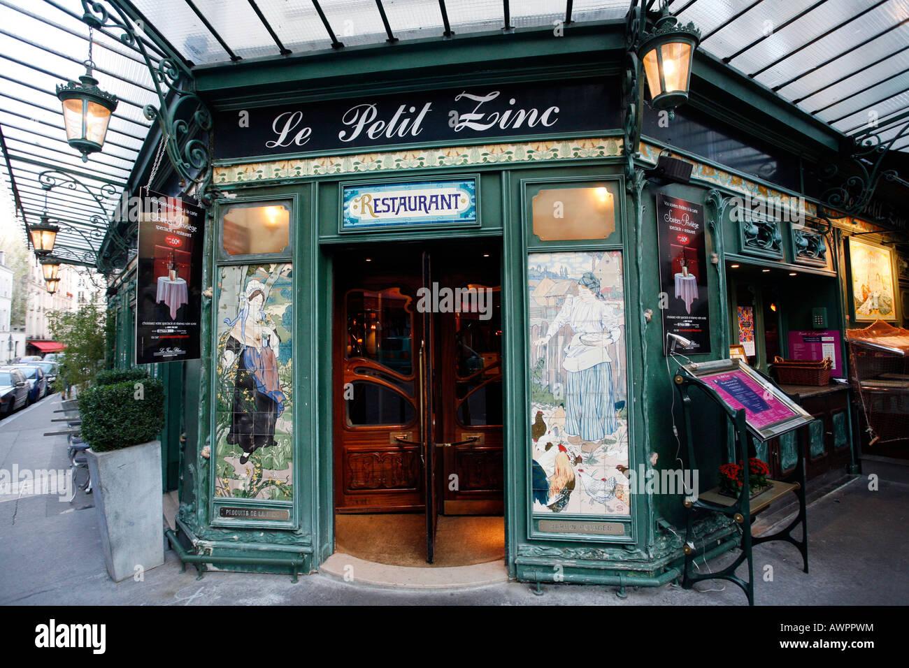 Restaurant le petit zinc quartier saint germain des pres for Le petit salon paris