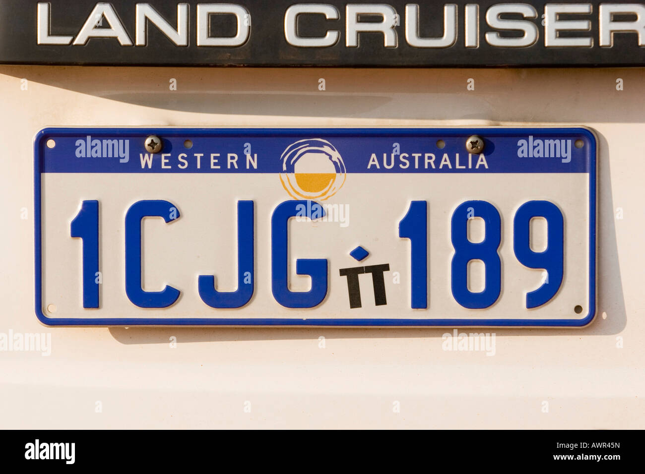 Number plate Western Australia, Australia Stock Photo, Royalty ...