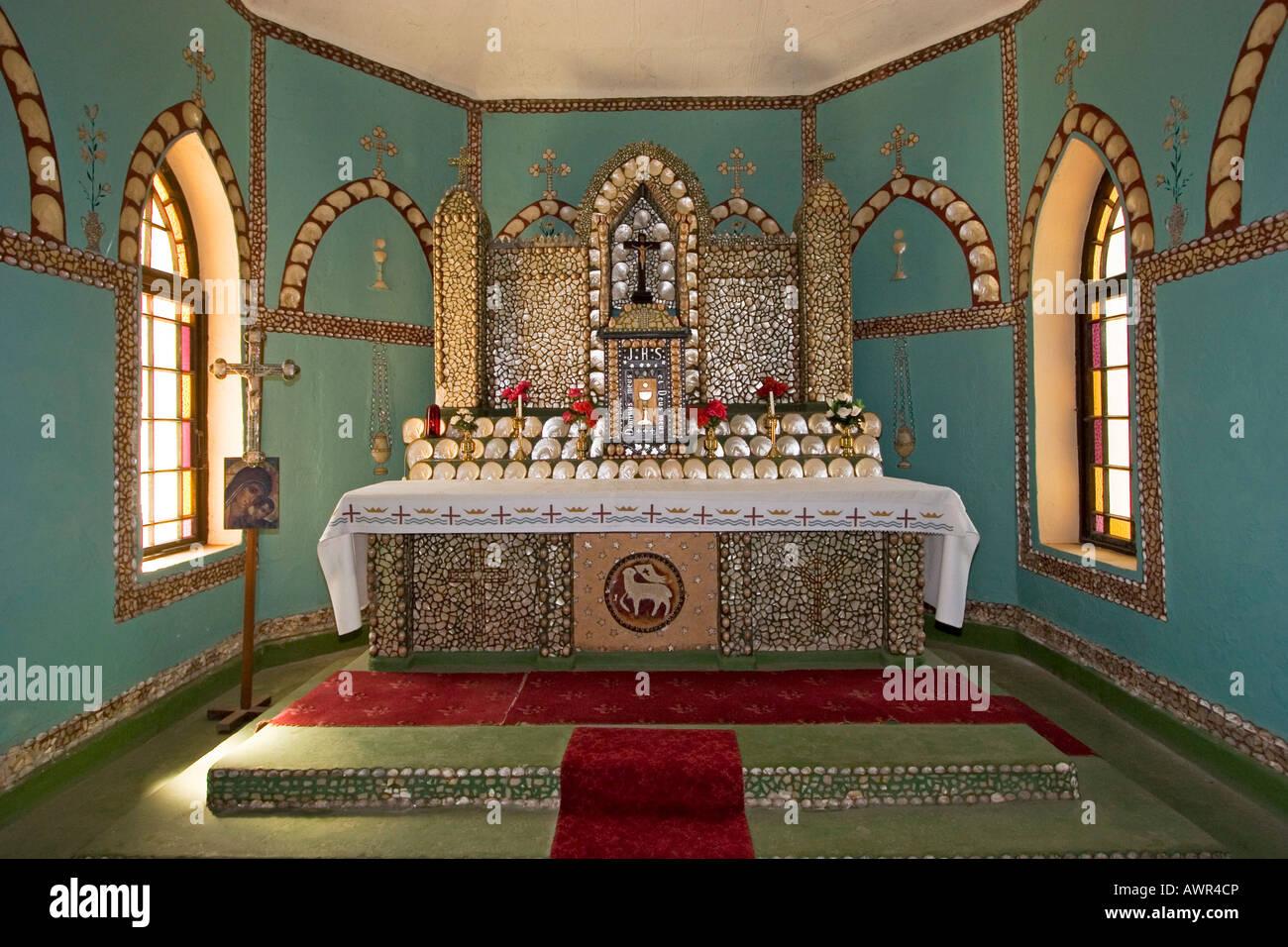 Altar Decorated With Seashells Church Of Beagle Bay Dampier Peninsula Western Australia WA