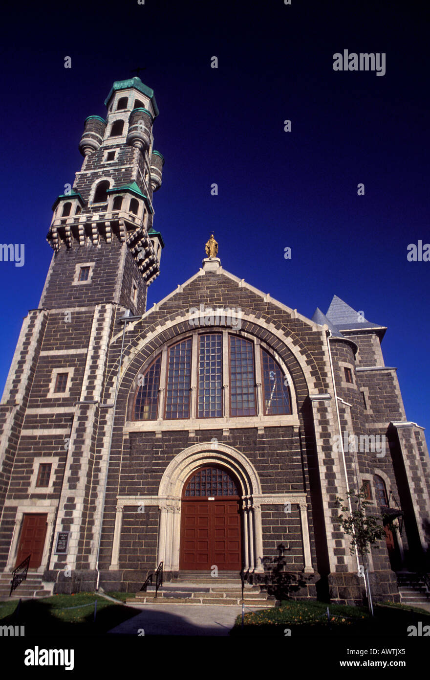 eglise saint coeur de marie church quebec city quebec province stock photo royalty free. Black Bedroom Furniture Sets. Home Design Ideas