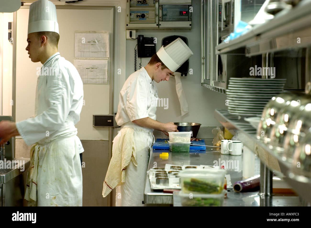 Paris france french haute cuisine restaurant le jules verne male stock photo royalty free - Restaurant cuisine francaise paris ...