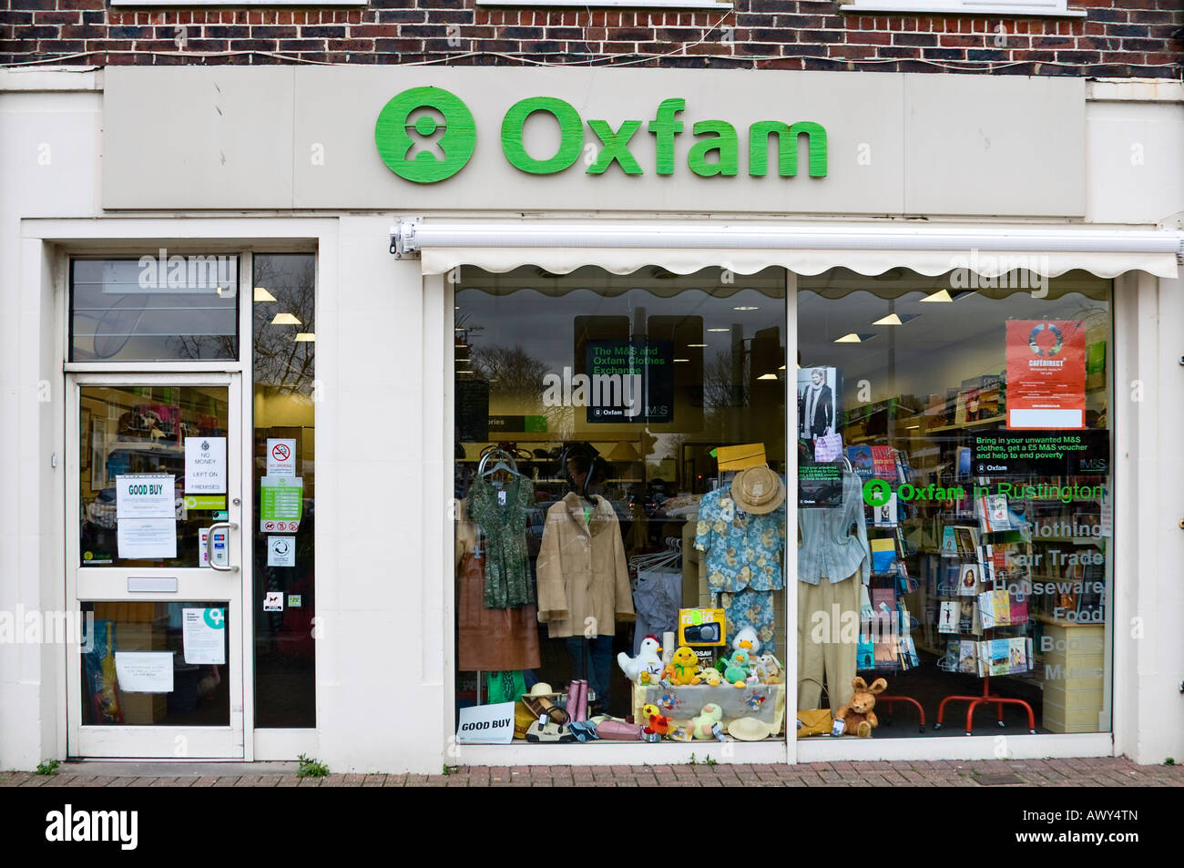 Front Elevation Of Furniture Showroom : Front elevation of oxfam charity shop stock photo royalty