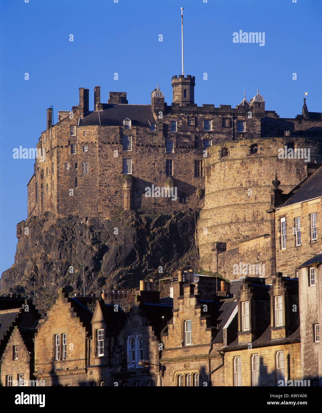stock edinburgh castle -#main