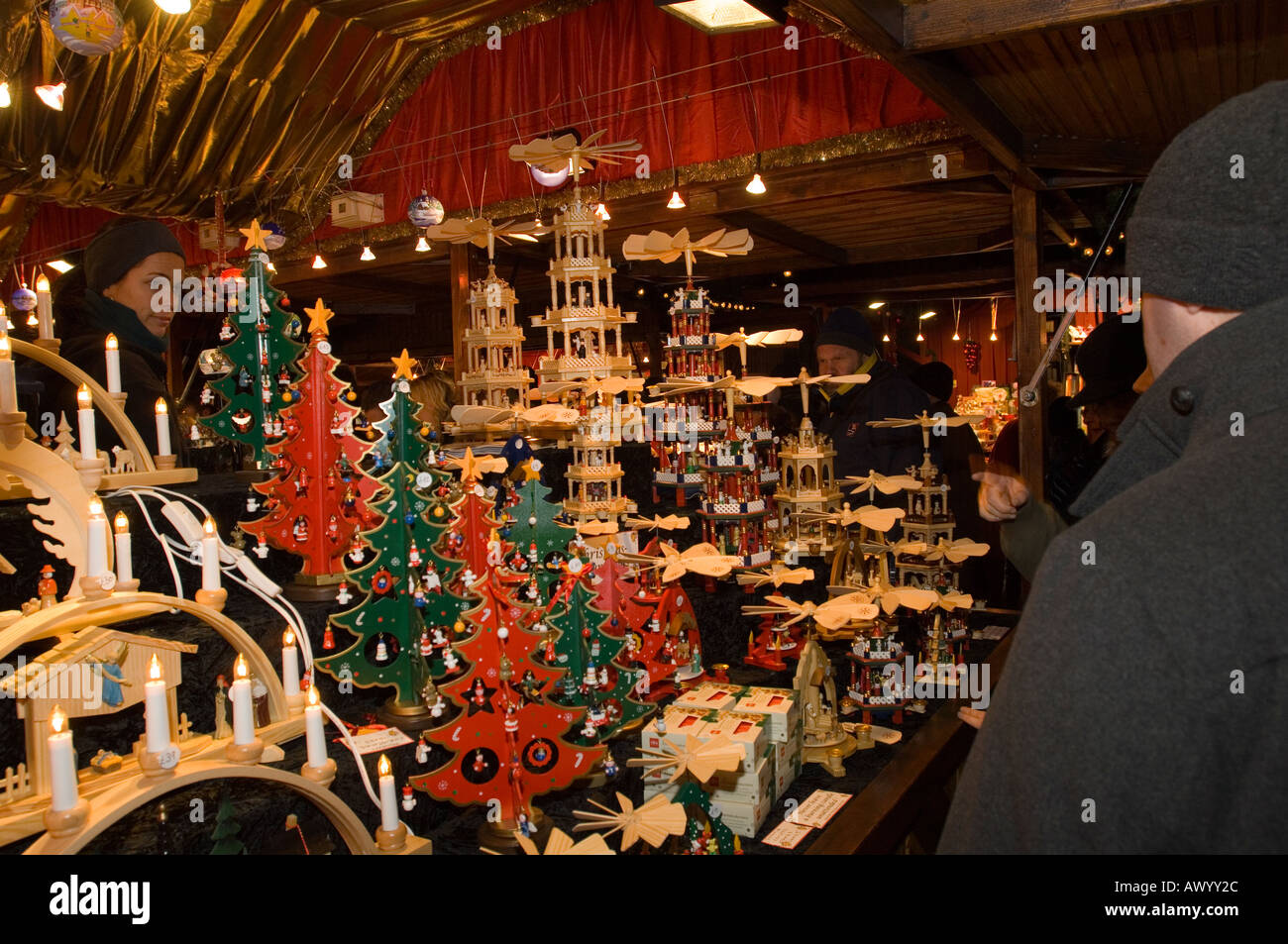 Traditional german christmas decorations - Christmas Decorations At Traditional German Christmas Market Edinburgh
