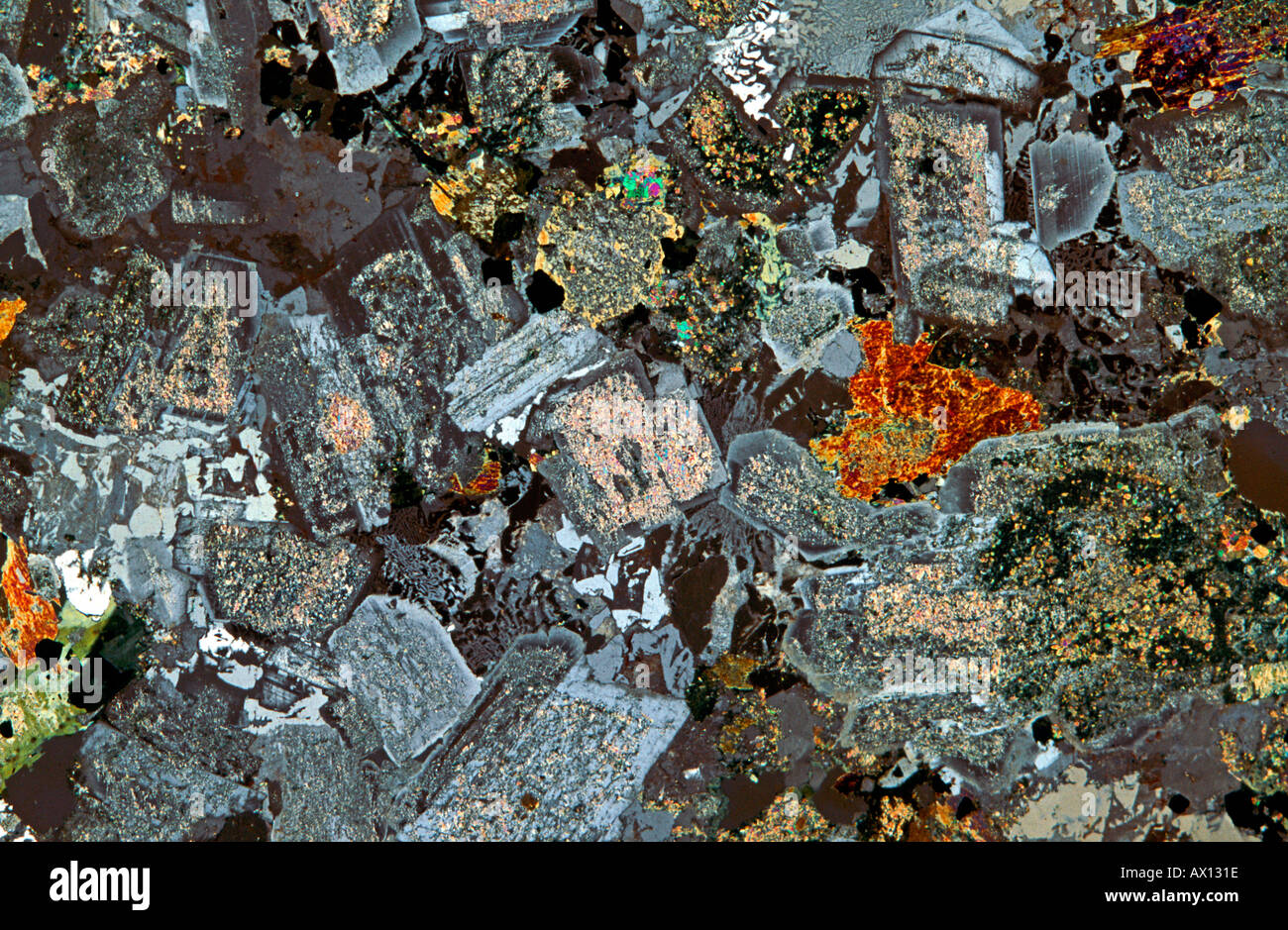 Hornblende In Thin Section 28 Images Igneous Minerals Igneous Minerals Thin Section