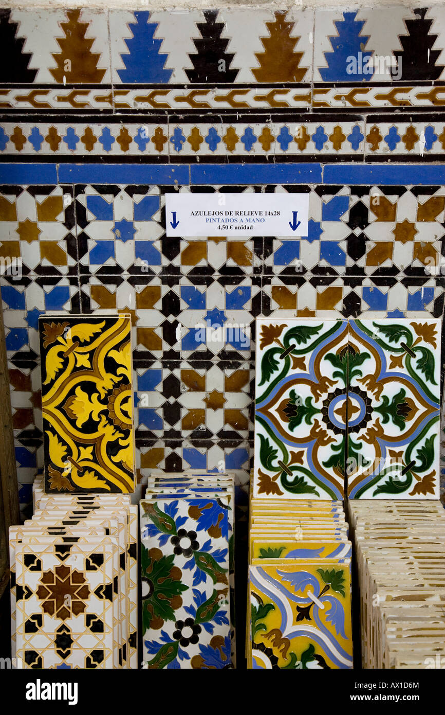 Ceramic tiles for sale in ceramics shop ceramica santa in the ceramic tiles for sale in ceramics shop ceramica santa in the triana district of seville andalusia spain europe dailygadgetfo Images