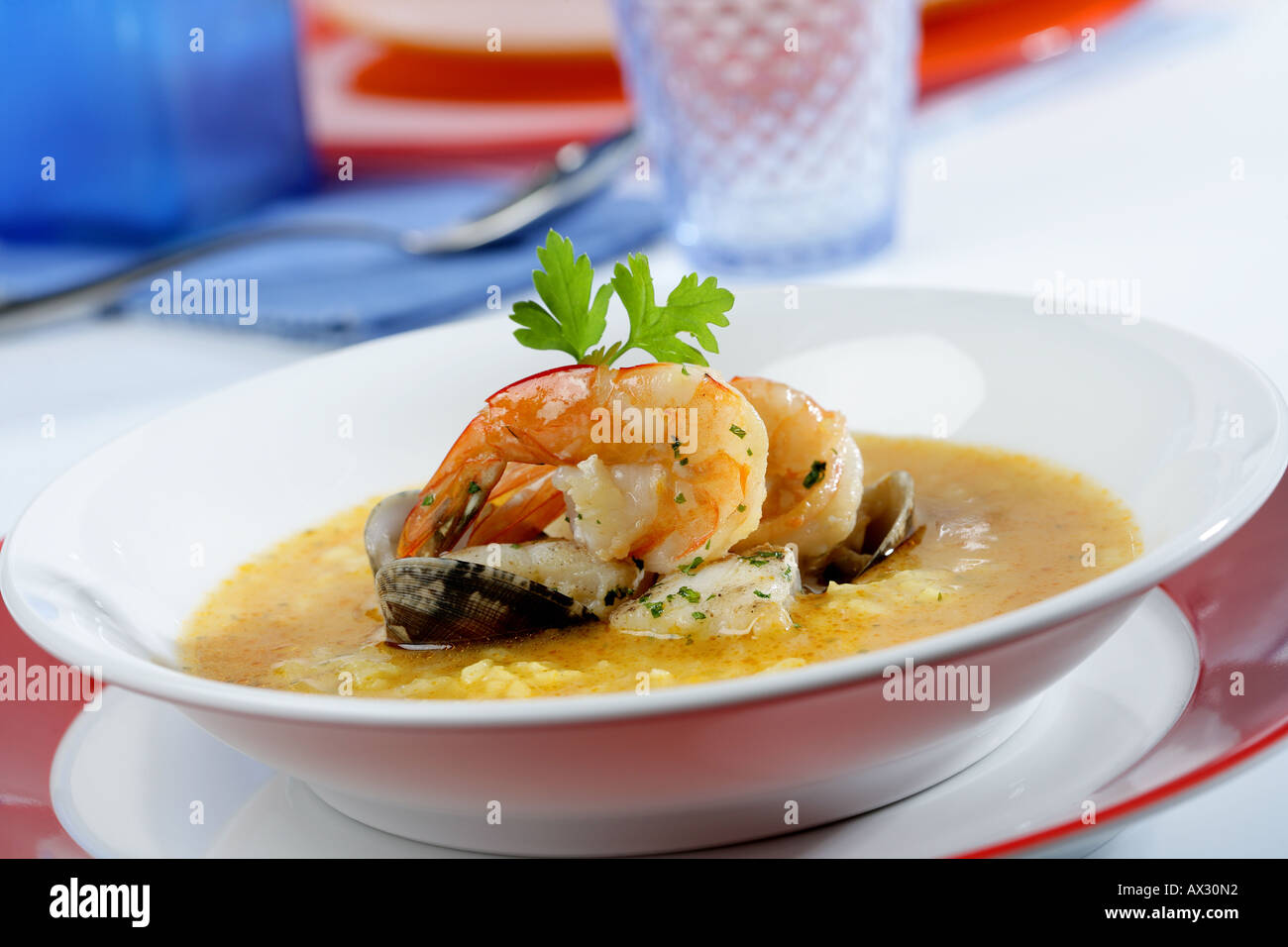 Fish and seafood soup stock photo royalty free image for Fish and shrimp soup