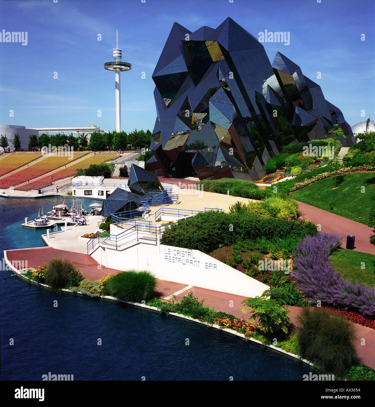 crystal, modern, futuristic, architecture, Futuroscope, Poitiers ...