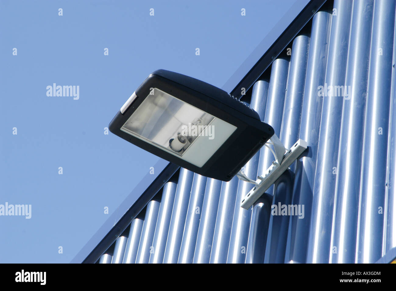 Security light on a commercial building in the uk stock photo security light on a commercial building in the uk mozeypictures Gallery