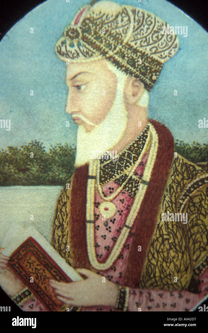 Portrait of he Mughal Emperor Aurangzeb Alamgir ruler from ...