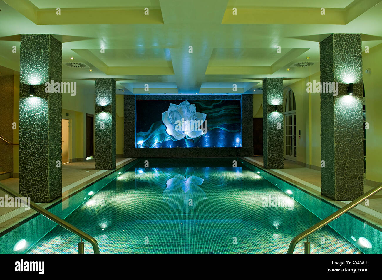 northern ireland fermanagh enniskillen the indoor swimming pool at stock photo royalty free