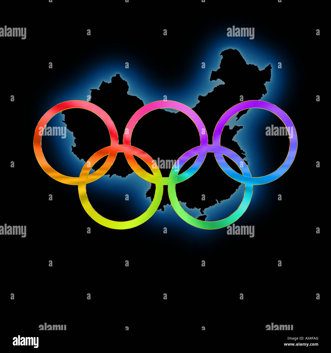 the gallery for gt olympic rings logo black background