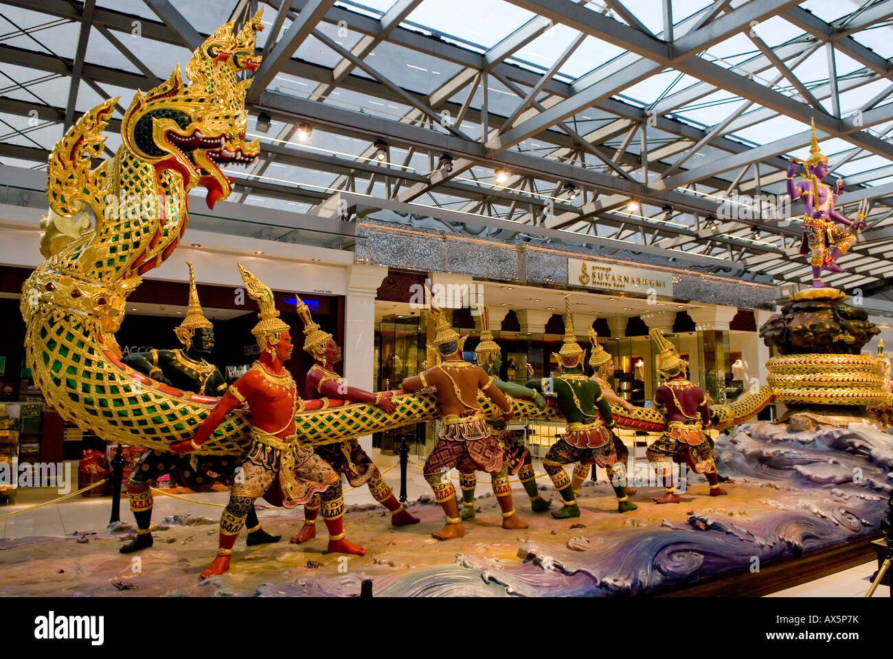 Suvarnabhumi Airport Bangkok Thailand Southeast Stock Photos