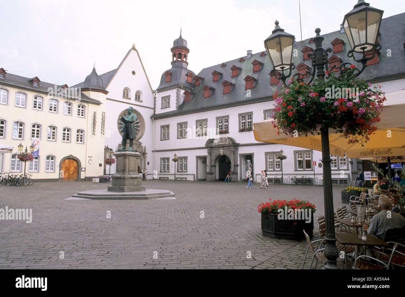 germany koblenz old town center with buildings and statue stock photo royalty free image. Black Bedroom Furniture Sets. Home Design Ideas