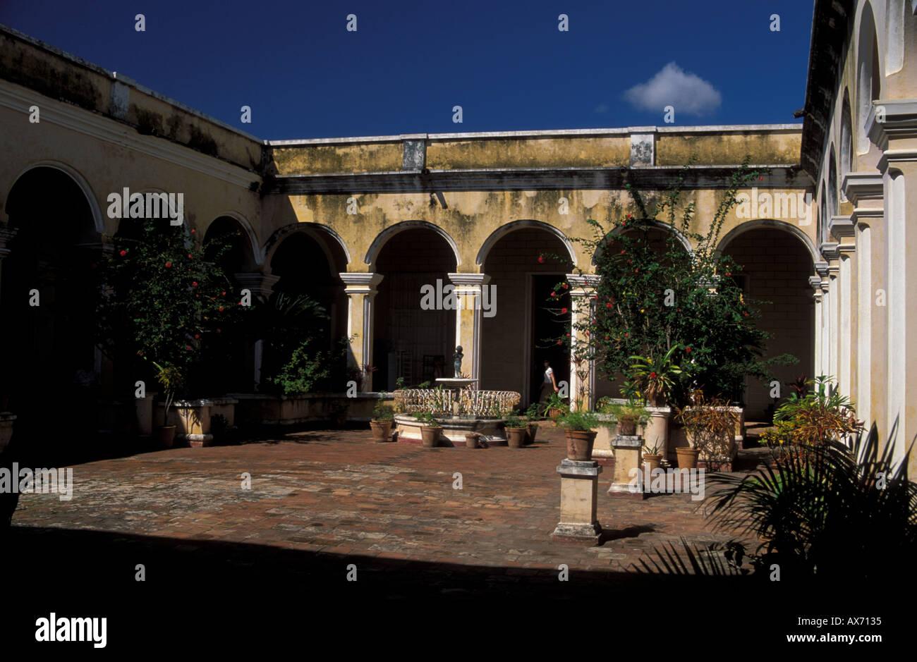 Patio Of Spanish Colonial Palace Now Museum Trinidad UNESCO World Heritage  Site Cuba