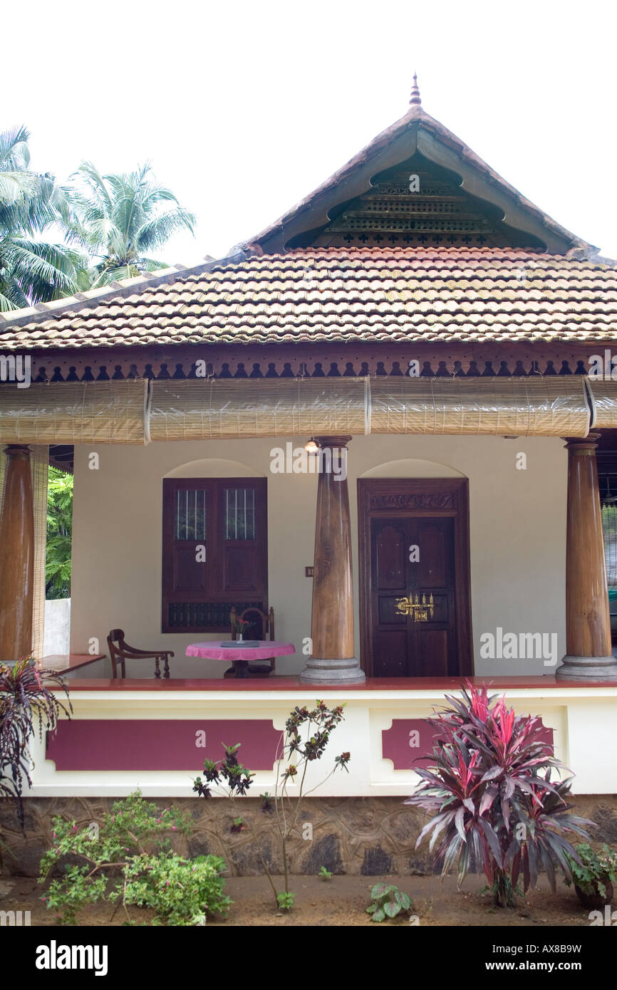 Part of verandah of keralite bungalow styled after for Traditional bungalow designs