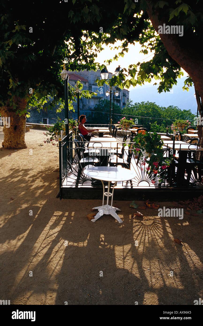 Terrace Village: Restaurant, Terrace, Village Square, Ste. Lucie De Tallano