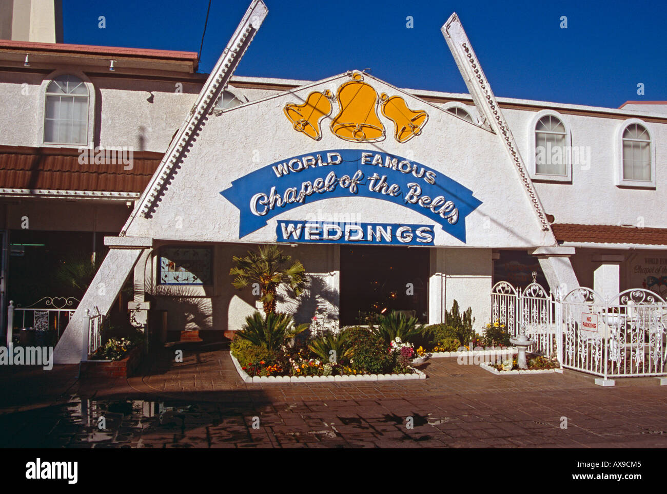 World Famous Chapel Of The Bells Wedding Las Vegas Nevada USA