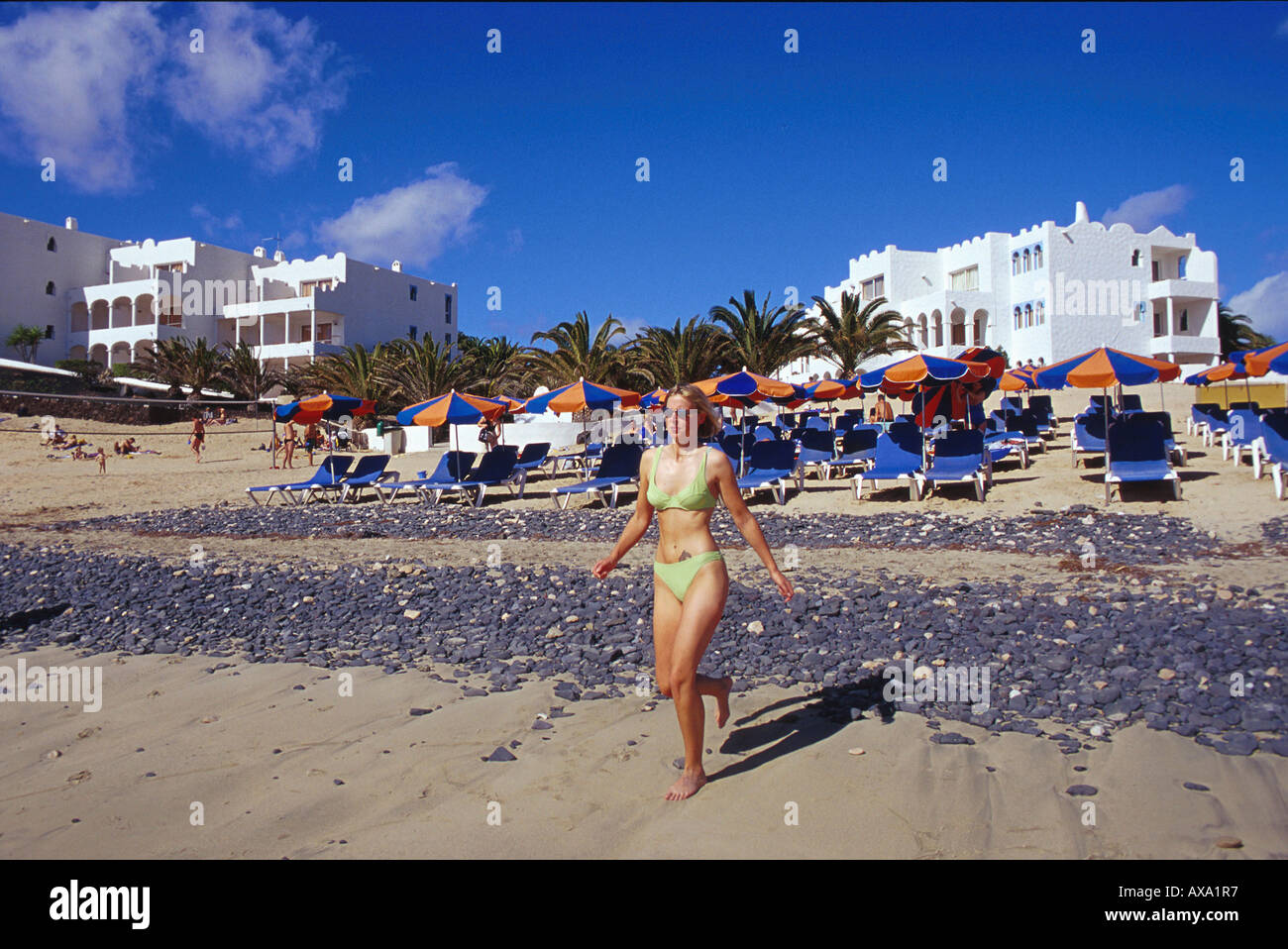 Chair on beach images buy chair on beach - Playa Costa Calma Costa Calma Fuerteventura Kanarische Inseln Stock