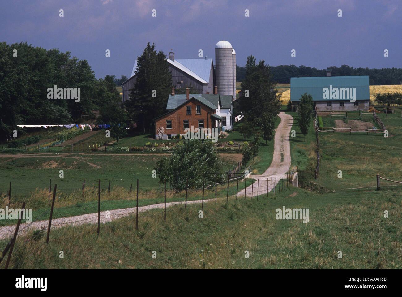 Mennonite farm near Kitchener Ontario CANADA No cars or TV aerials ...