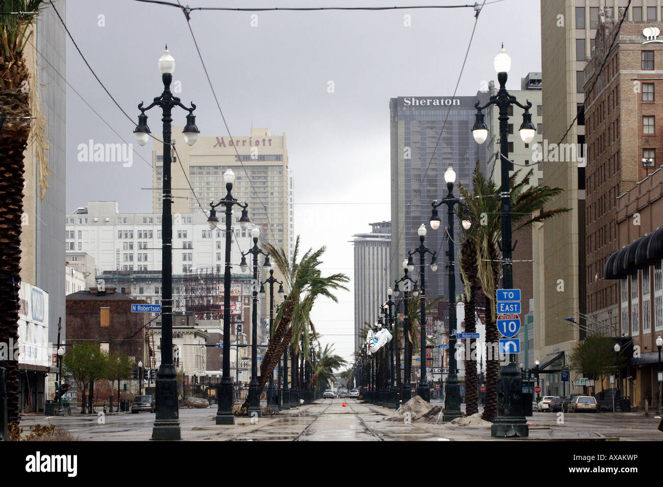 City of New Orleans after the Hurricane Katrina, USA Stock ...