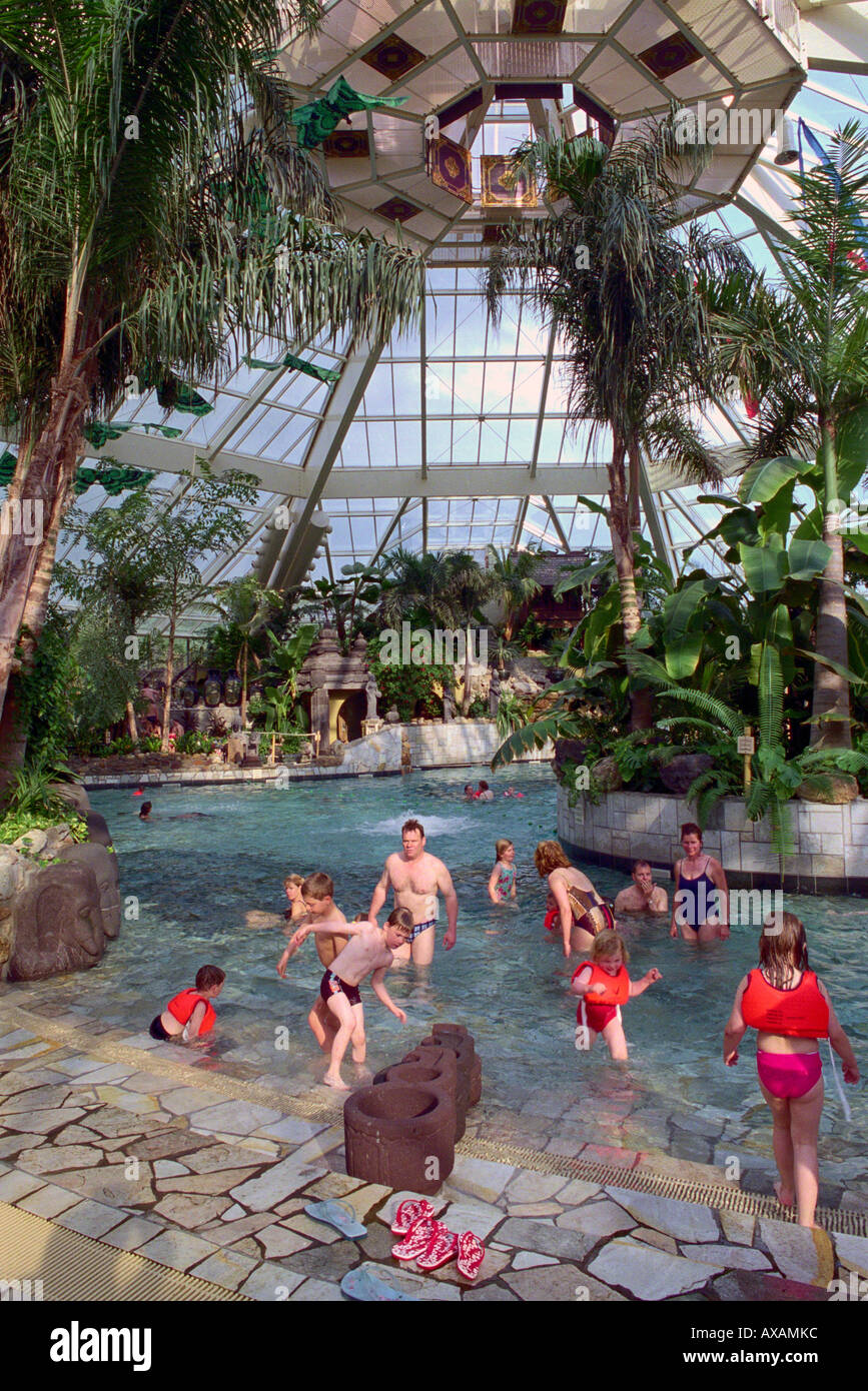 Indoor Swimming Pool Center Parcs De Femhof Netherlands Stock Photo Royalty Free Image