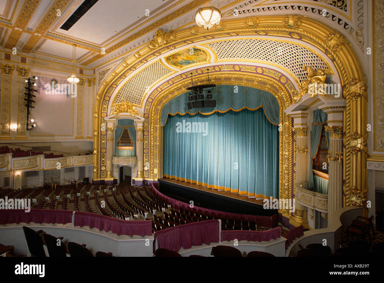 RESTORED INTERIOR OF THE HISTORIC STATE THEATRE ON HENNEPIN AVENUE IN DOWNTOWN MINNEAPOLIS MINNESOTA