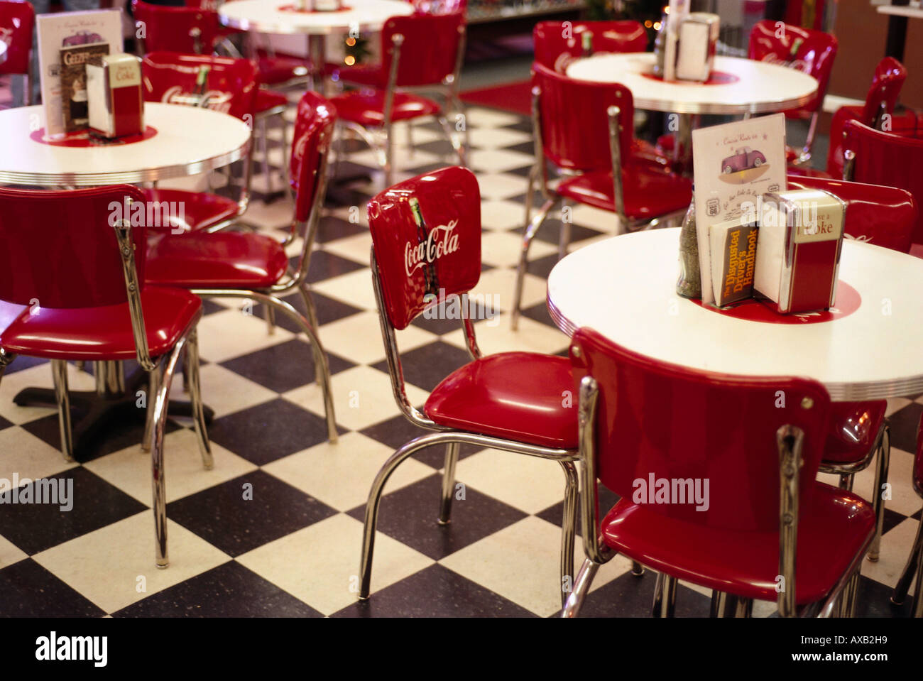 Chairs And Tables At A Cafe, Dinneru0027 S, Twister Soda, Route 66, Arizona,  USA, America