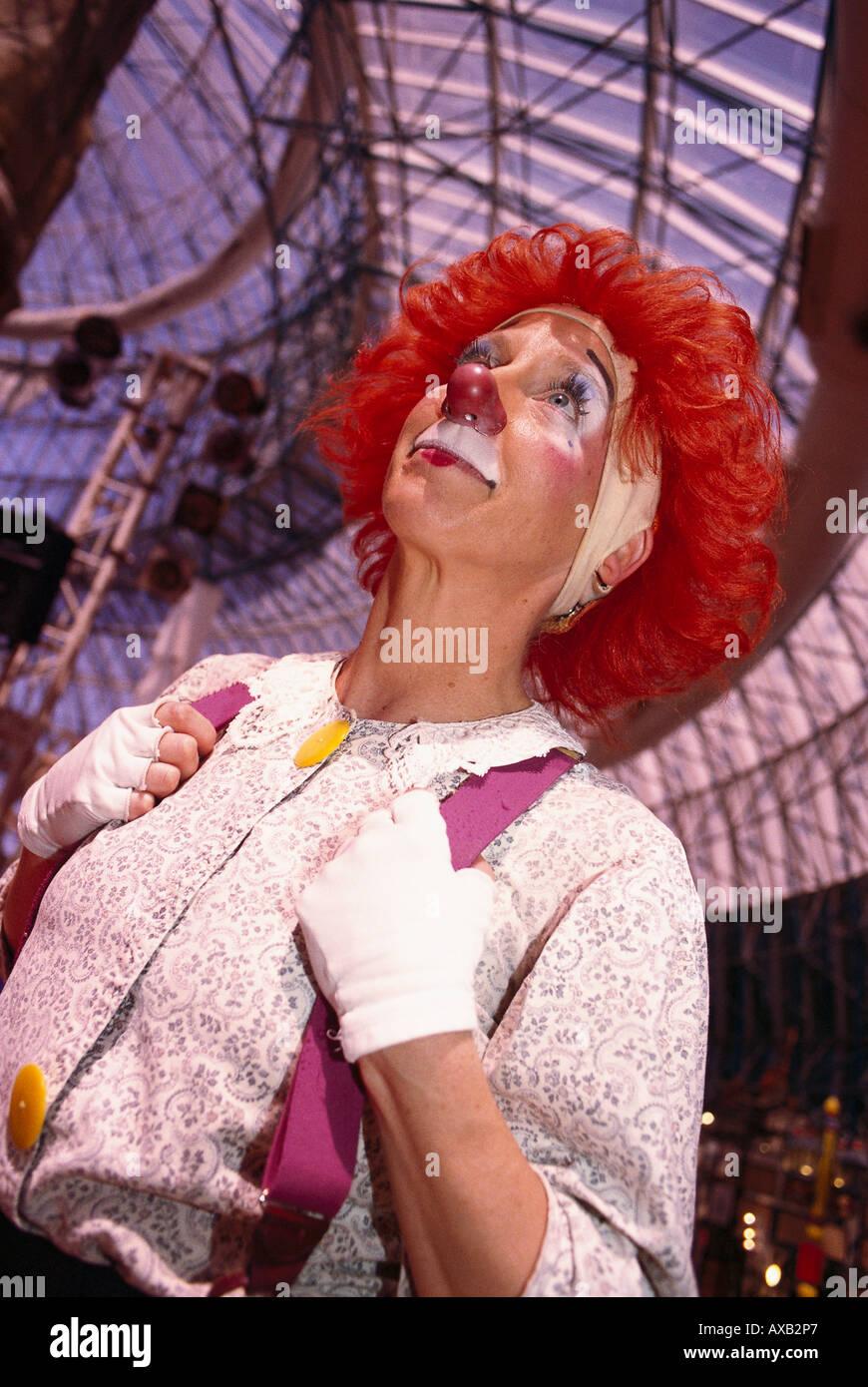 clown at adventuredome circus circus las vegas nevada usa stock image - Adventuredome Halloween