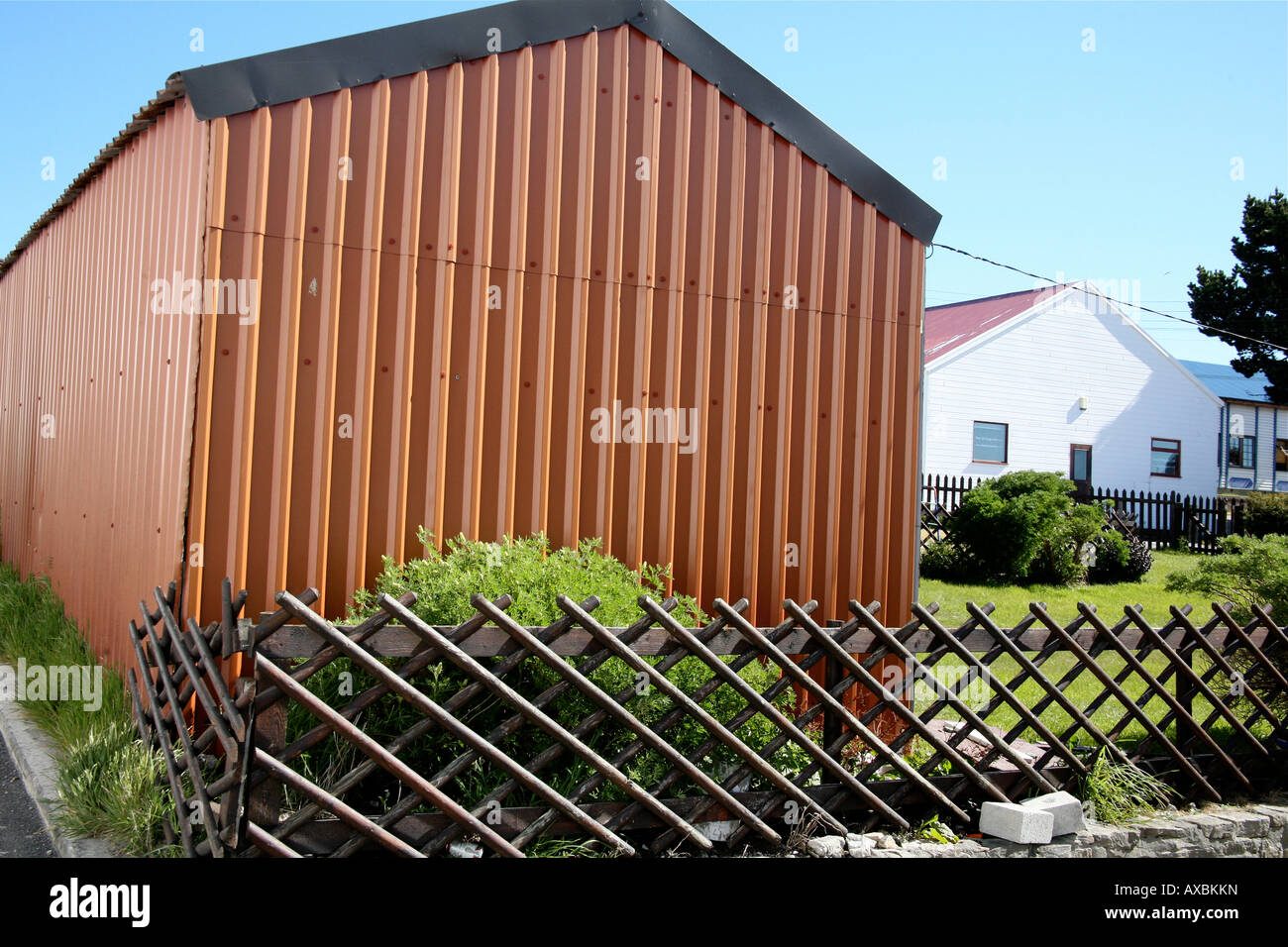 Brightly Colored Metal Shed An