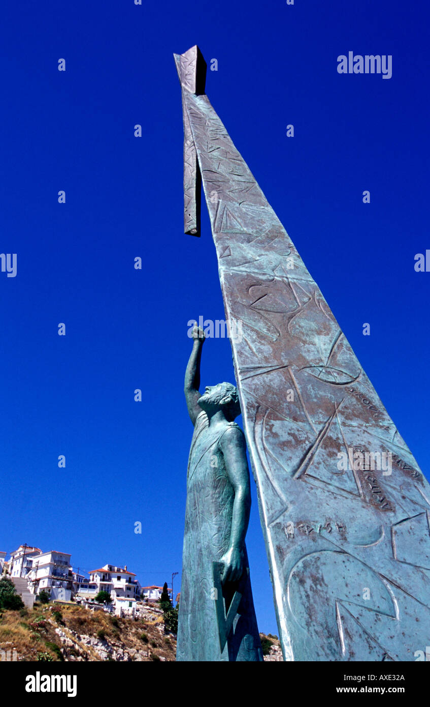 pythagoras theorem stock photos pythagoras theorem stock images statue of pythagoras pythagorio samos island stock image