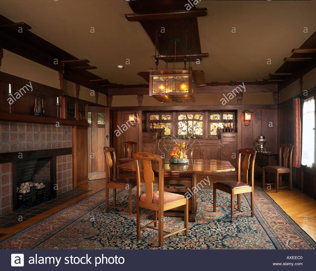 The David B. Gamble House, Pasadena, California. The Dining Room.  Architect: Greene And Greene Part 69