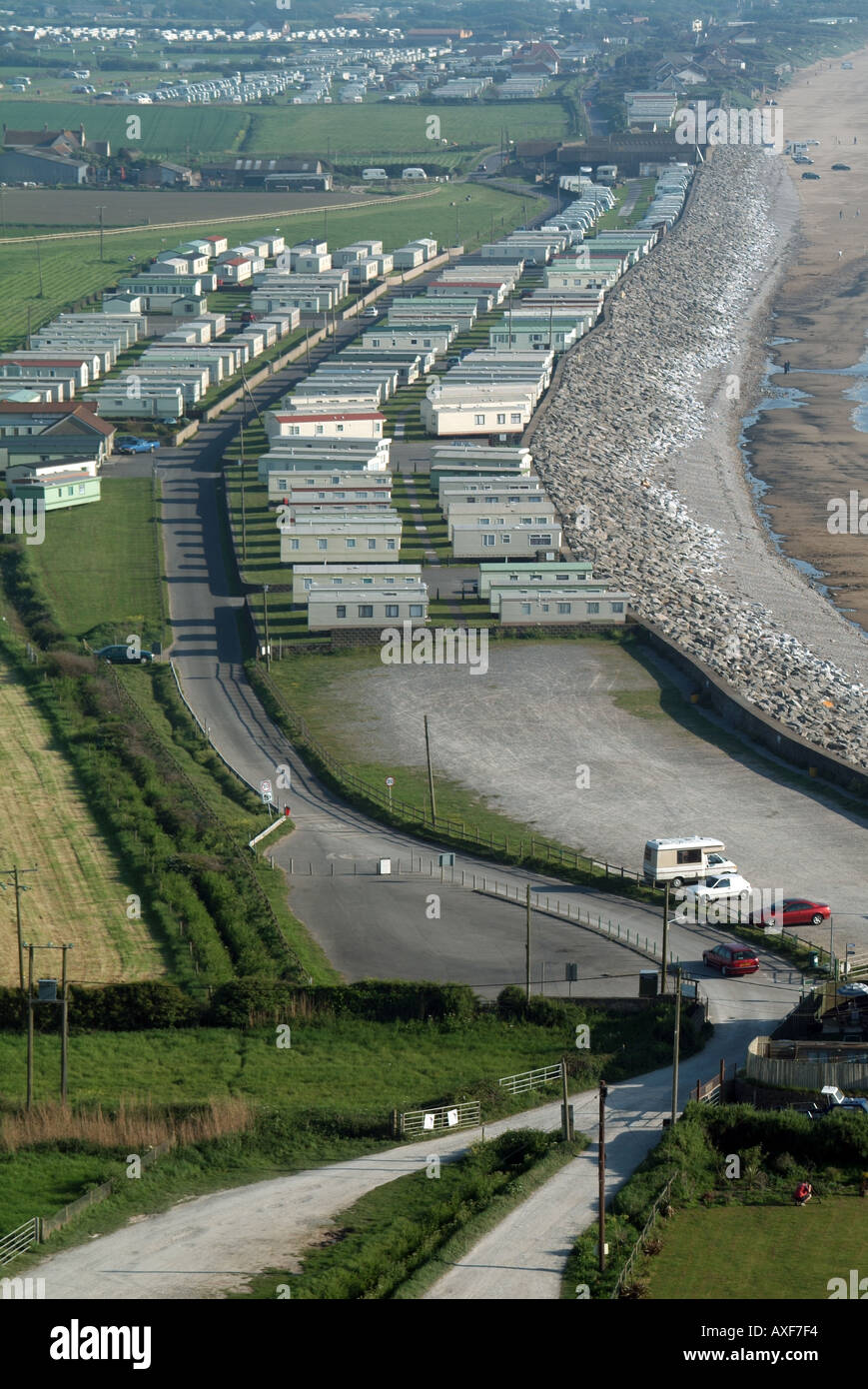 Brean Near Burnham On Sea Semi Aerial View Of Waterside Caravan Mobile Home Park