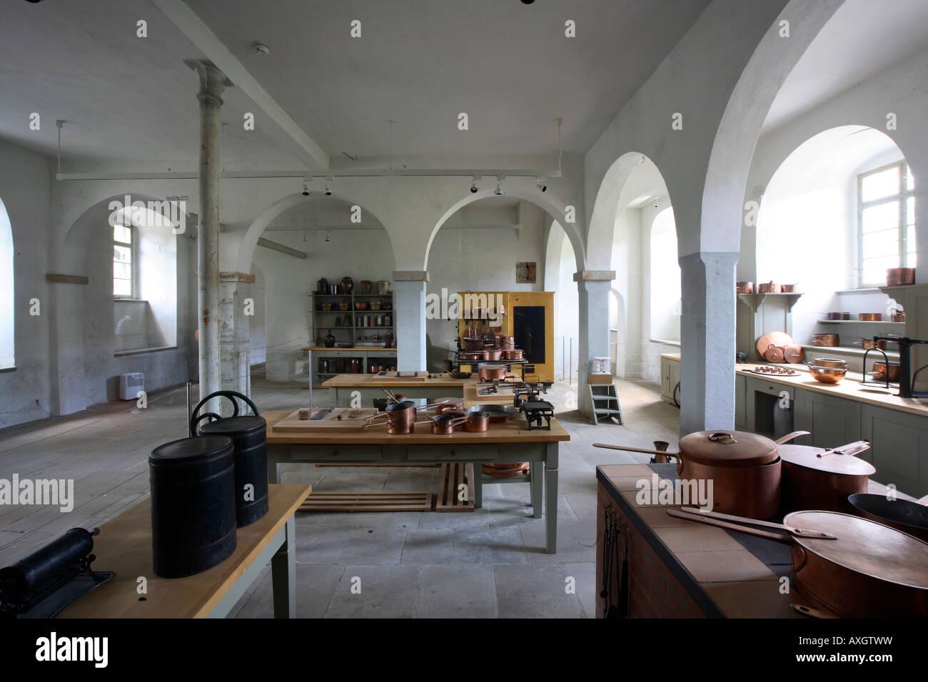 dresden, schloß pillnitz, küche im neuen palais stock photo