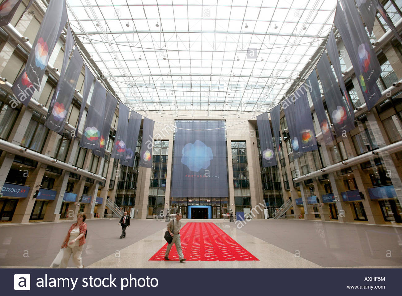 Brussels  Justus Lipsius Building Stock Photo  Royalty