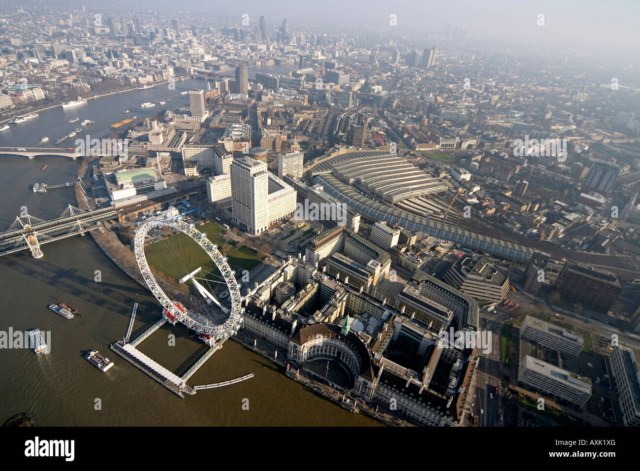 High Level Oblique Aerial View South East Of London Eye