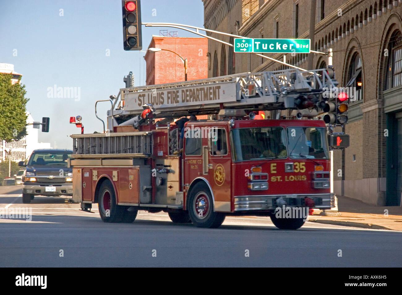 St louis fire department ladder truck fire engine missouri