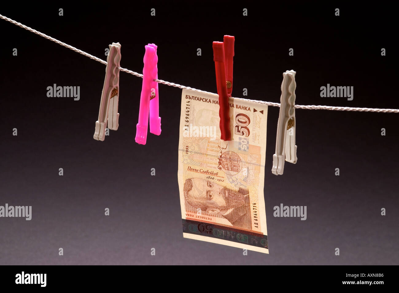 Washed money hanged on a rope currency pegs bgn 50 leva euro note washed money hanged on a rope currency pegs bgn 50 leva euro note dirty money drying biocorpaavc