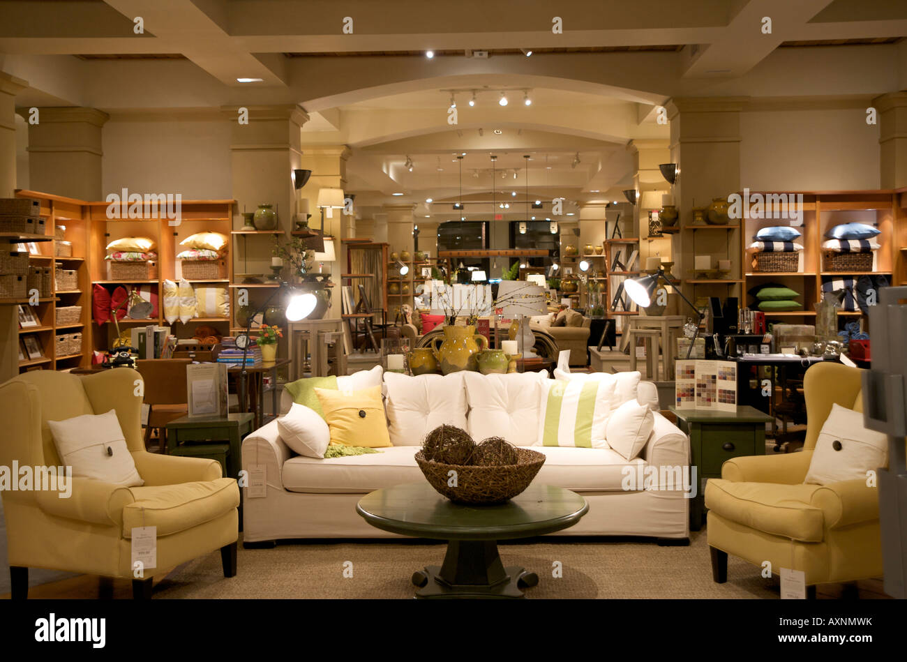Pottery Barn Store Interior Stock Photo Royalty Free