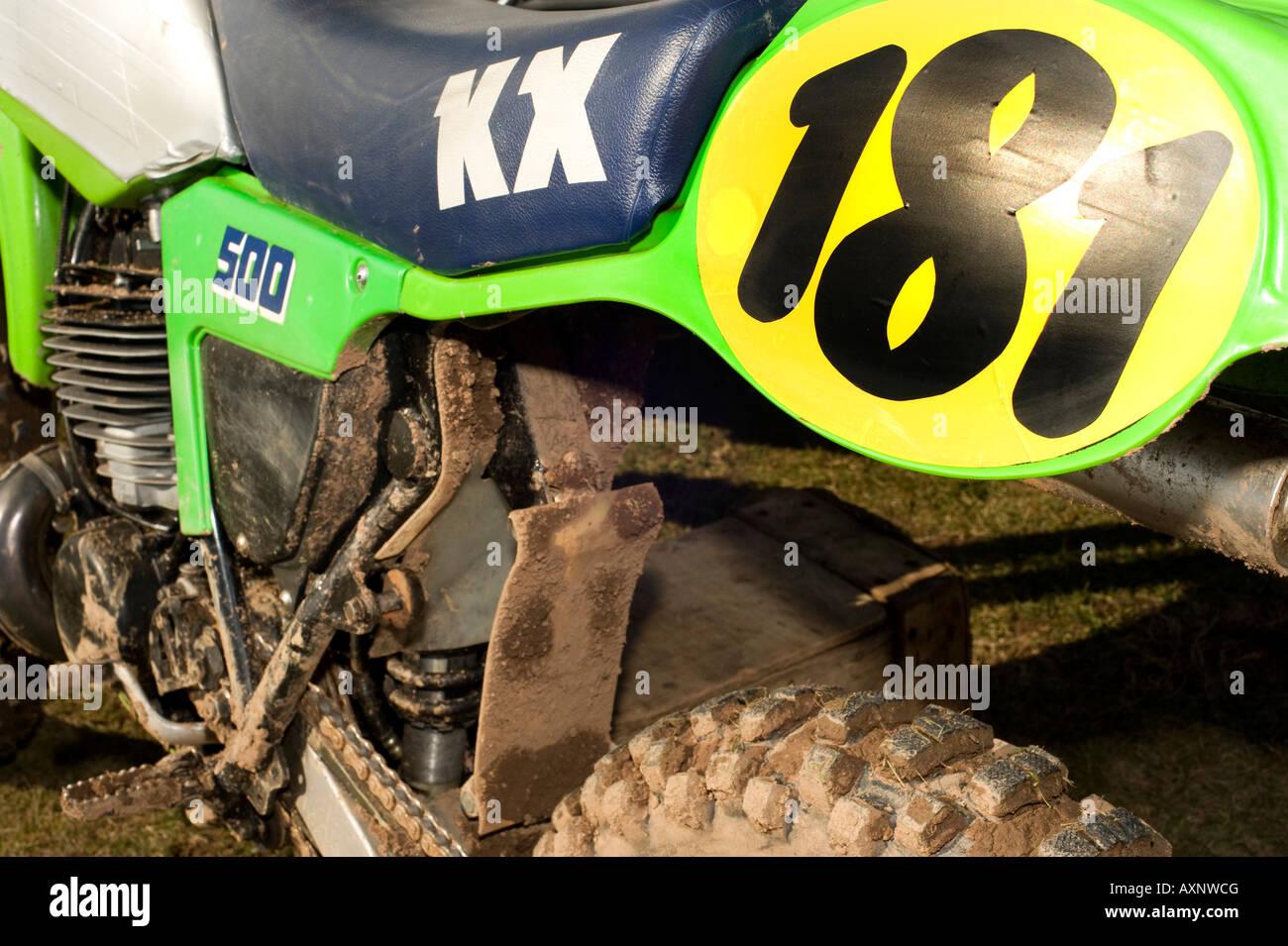 Dirt Bike Kawasaki Stock Photo 83606689