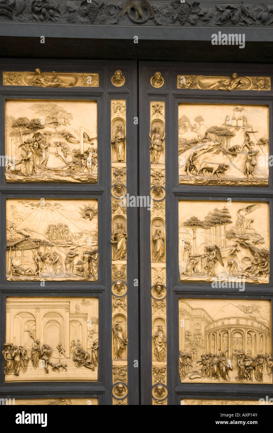 Bronze doors of the Baptistry of San Giovanni Florence Italy & Bronze doors of the Baptistry of San Giovanni Florence Italy Stock ... Pezcame.Com