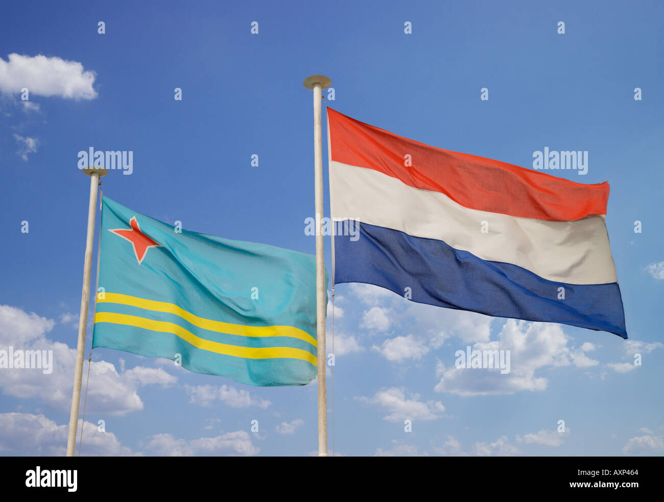 Flags Of Holland And Aruba Stock Photo Royalty Free Image - Aruba flags