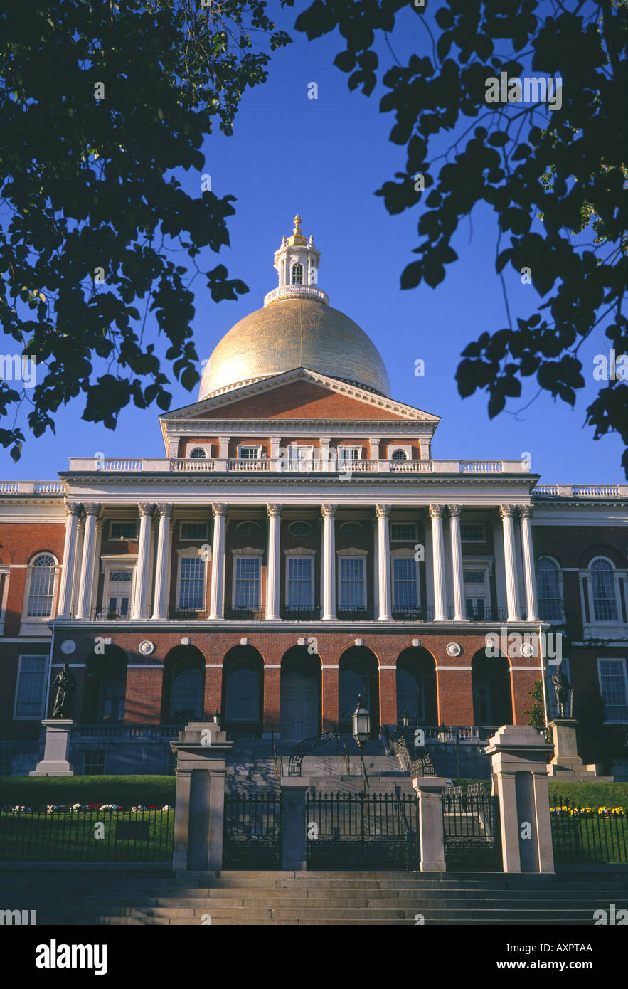 Usa massachusetts boston state capitol building house for Building a house in ma