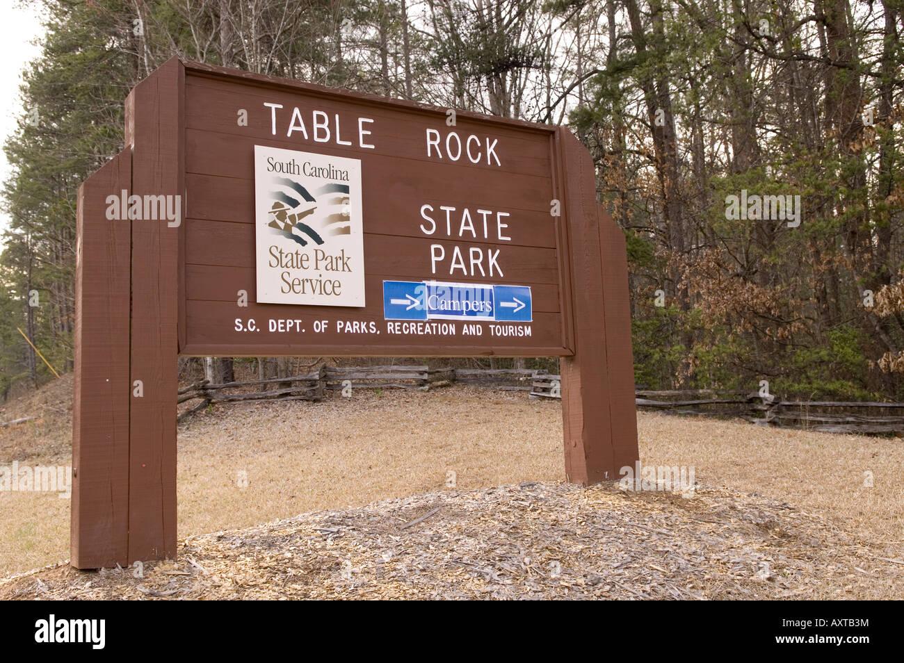 Table Rock State Park Entrance Sign Upstate South Carolina USA