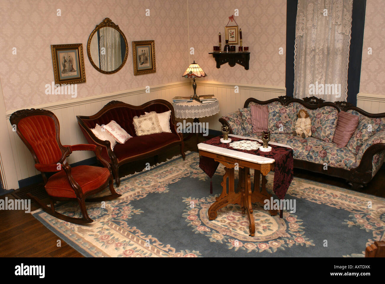 Old Fashioned Living Room Stock Photo Royalty Free Image