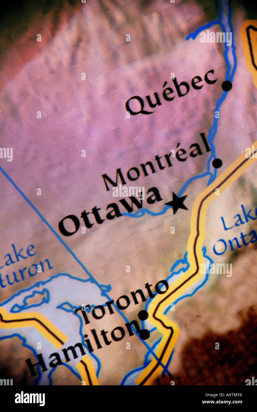 Current Map Of Canada Showing The Cities Of Ottawa Montreal – Map of Canada Showing Ottawa